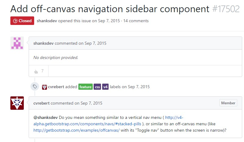 Add off-canvas navigation sidebar  ingredient