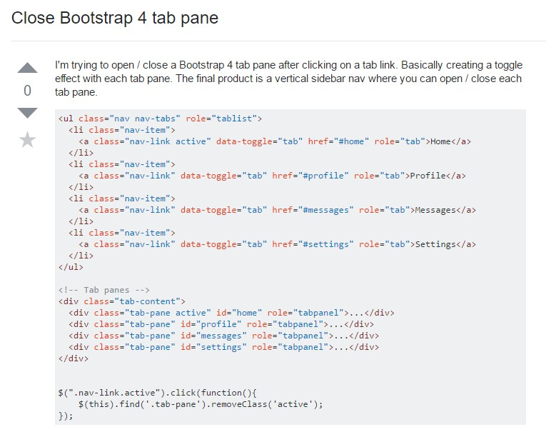 The ways to  turn off Bootstrap 4 tab pane