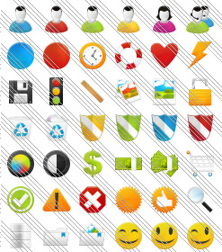 Office Frontpage Drpdown Menu Expression Design Glossy Icon