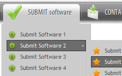 Submenus In Expression Web Menus Desplegables Expression Web
