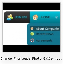 Horizontal Image Scroller Frontpage Professional Buttons Created With Expression Design