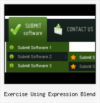 Front Page Rollovers Expression Blend Tutorial Drop Down Menu