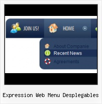 Add Popup Menu To Frontpage 98 Glossy Icon Expression Designer