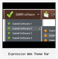 Expression Design Glass Effect Simple Frontpage Menu