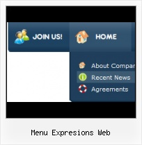 Frontpage Templates With Roll Out Menus Web Expression 3 Navigation Bars
