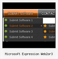 Expression Design 3 Glass Button Frontpage Tabs