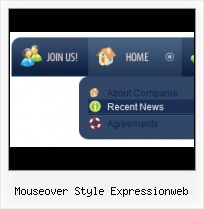 Glassy Feed Buttons In Expression Design Making Navigation Menu Expression Design