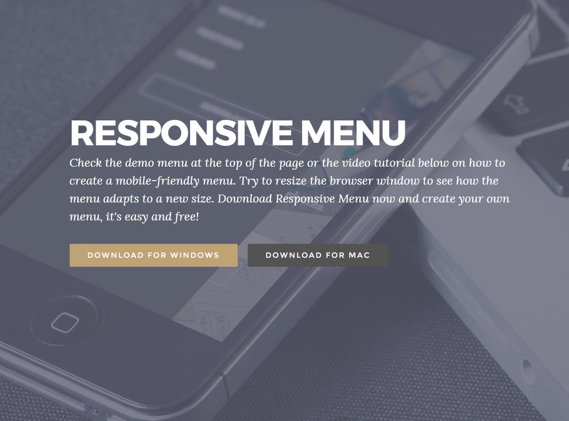 Mobirise Bootstrap menu