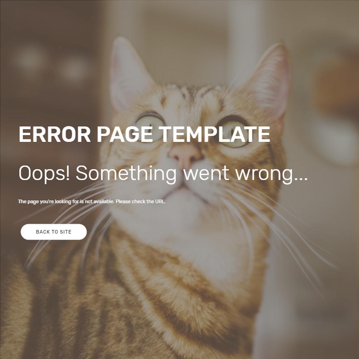 Responsive Bootstrap Error Themes