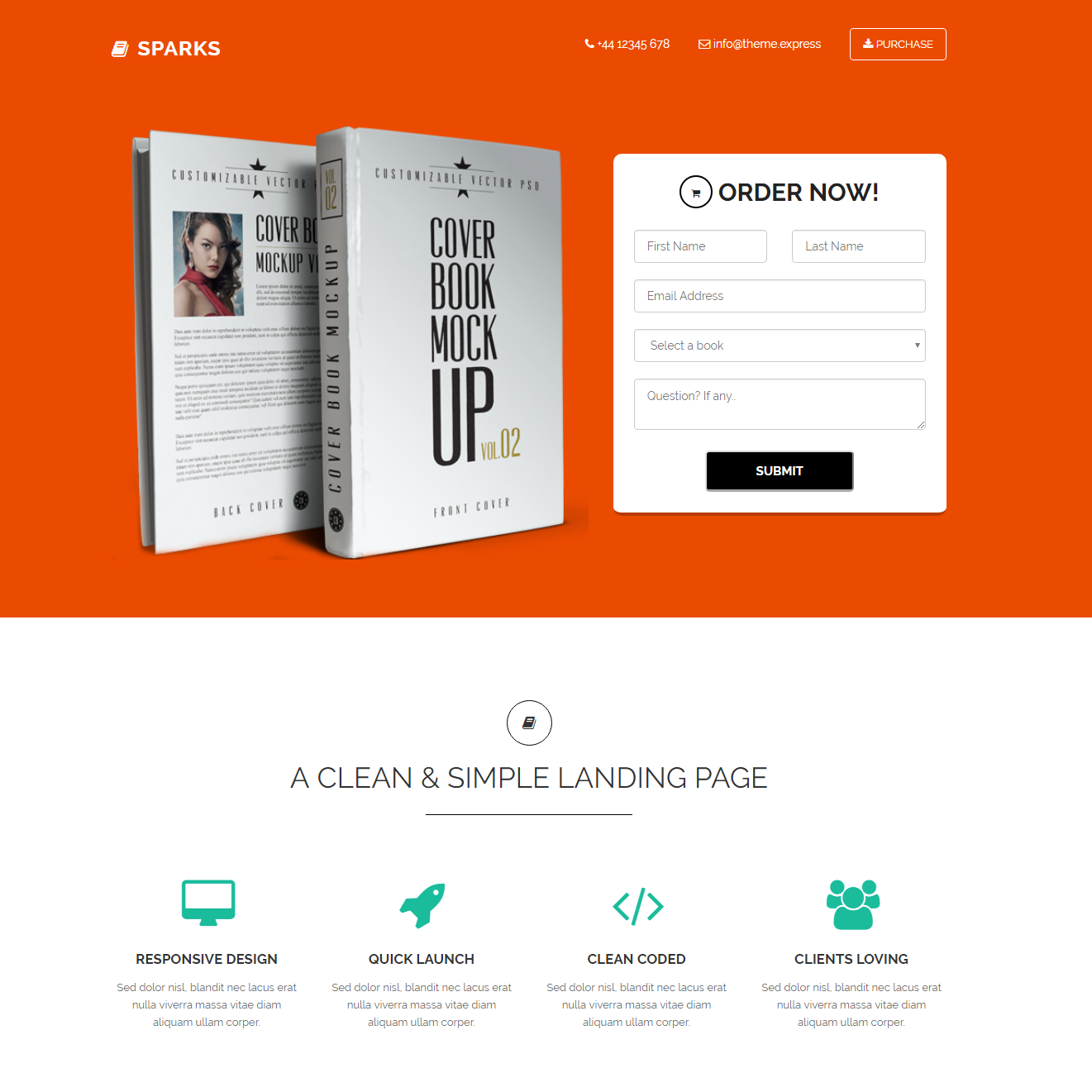 Free Download Bootstrap Sparks Themes
