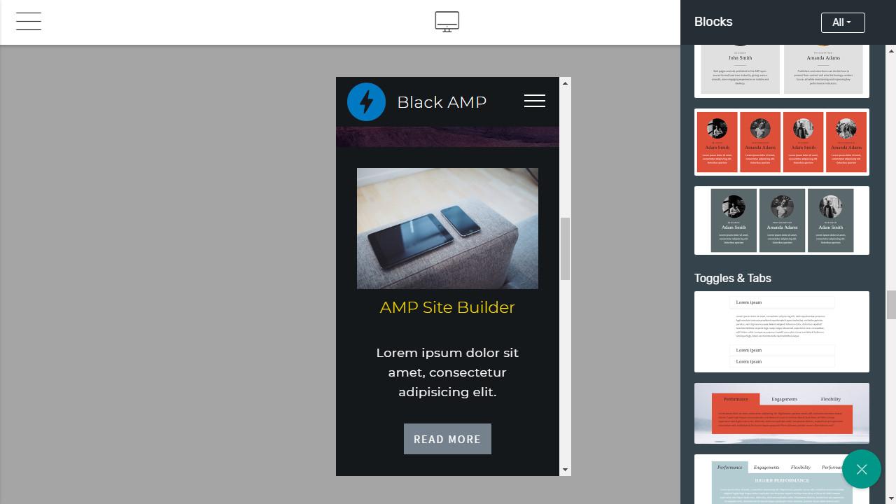 Mobile Page Creator