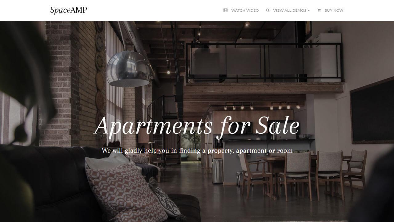 AMP Rental Website Template